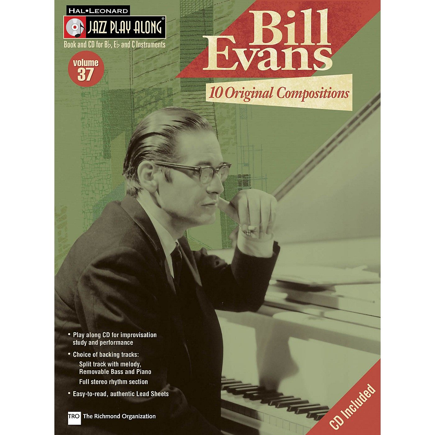Hal Leonard Bill Evans: 10 Original Compositions Jazz Play Along Series Softcover with CD Performed by Bill Evans thumbnail