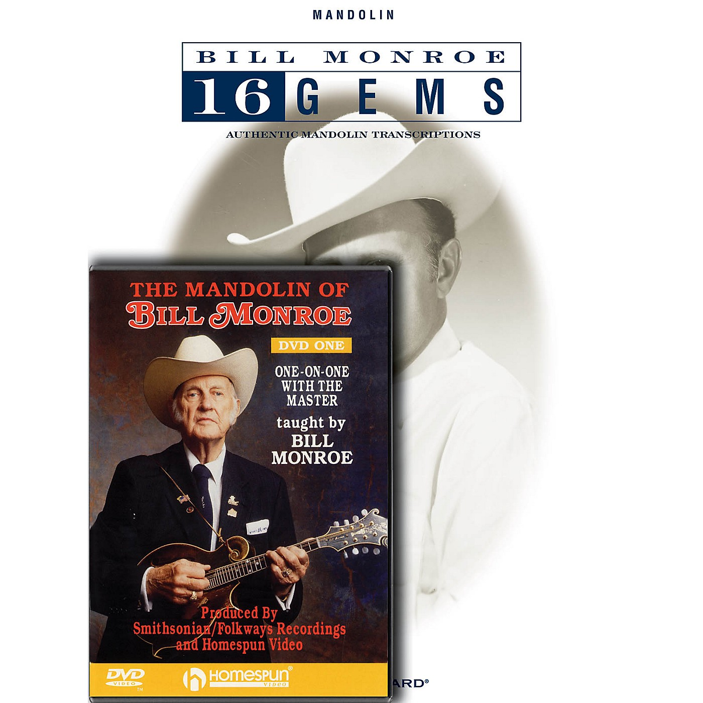 Homespun Bill Monroe Mandolin Pack Homespun Tapes Series Softcover with DVD Performed by Bill Monroe thumbnail