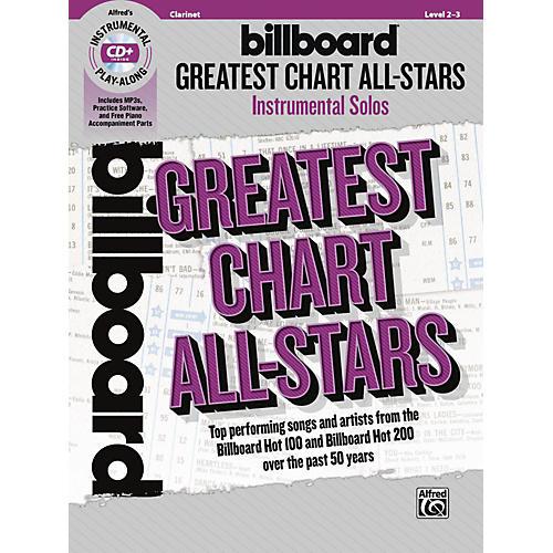 Alfred Billboard Greatest Chart All-Stars Instrumental Solos Clarinet Book & CD Level 2-3 thumbnail