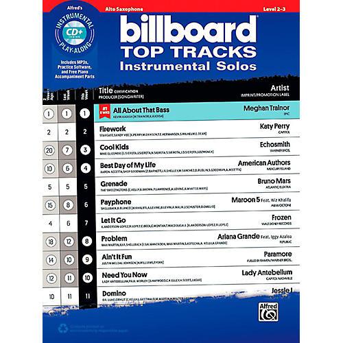 Alfred Billboard Top Tracks Instrumental Solos - Alto Sax Book & CD Play-Along thumbnail