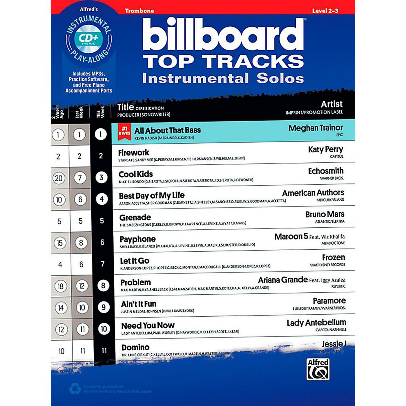 Alfred Billboard Top Tracks Instrumental Solos - Trombone Book & CD Play-Along thumbnail