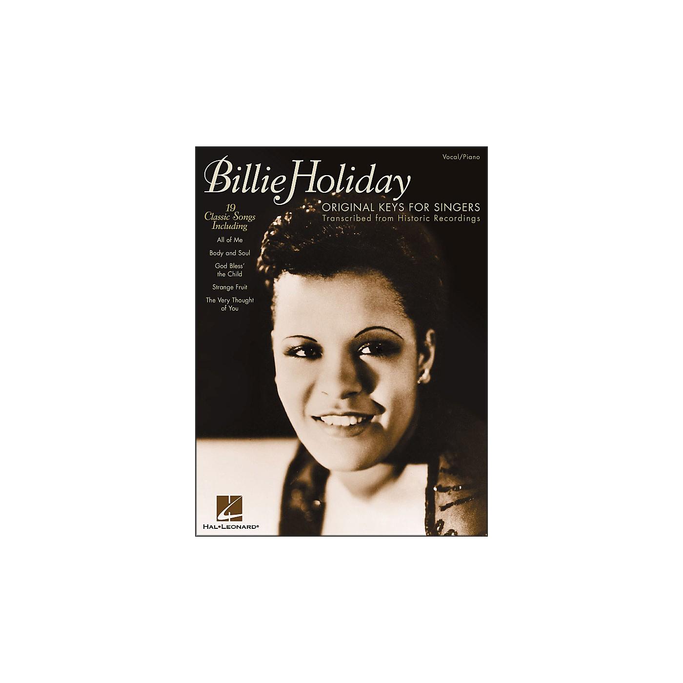 Hal Leonard Billie Holiday - Original Keys for Singers thumbnail