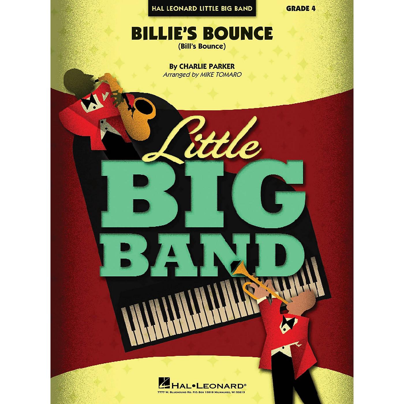 Hal Leonard Billie's Bounce Jazz Band Level 4 Arranged by Mike Tomaro thumbnail