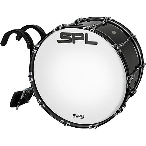 Sound Percussion Labs Birch Marching Bass Drum with Carrier - Black thumbnail