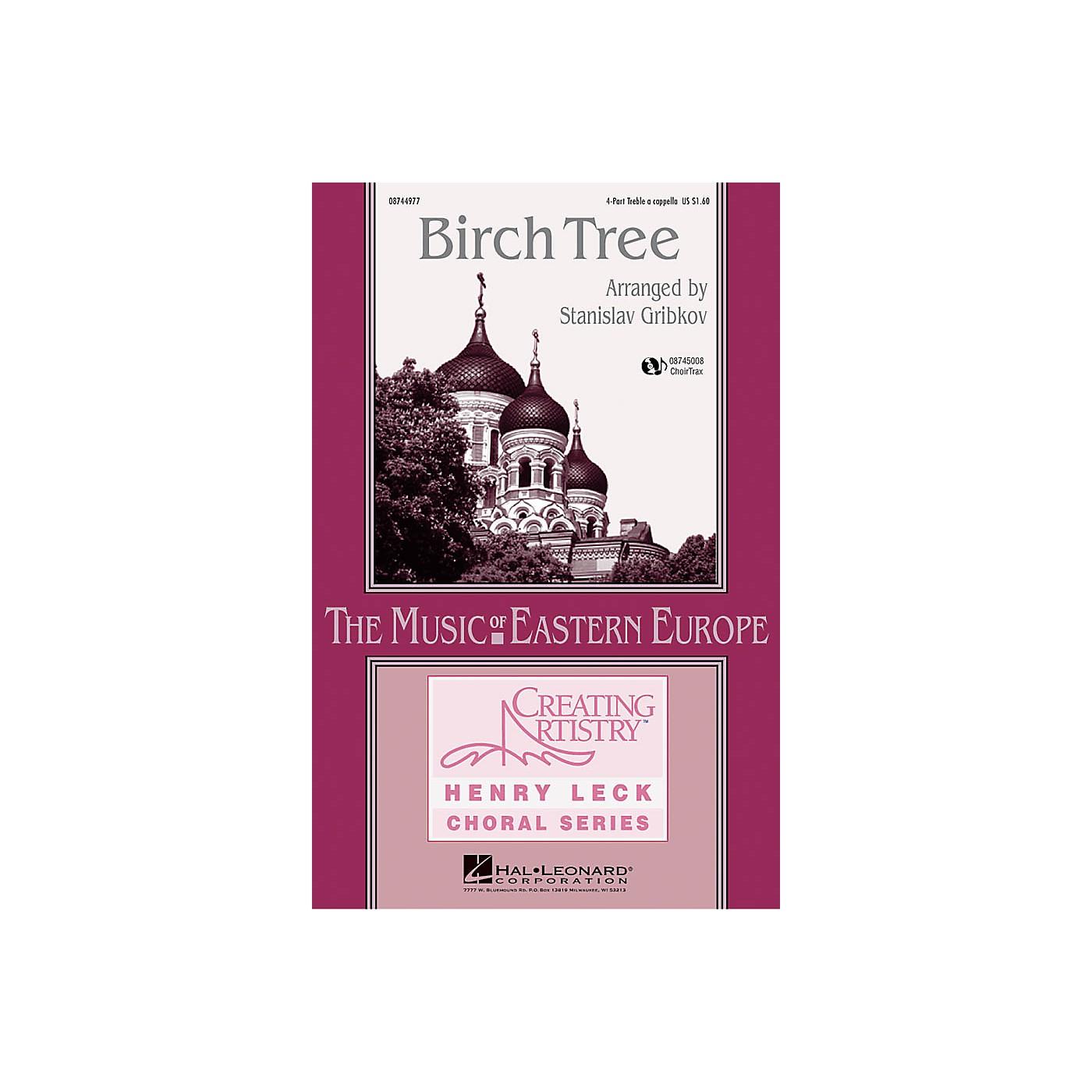 Hal Leonard Birch Tree 4 Part Treble arranged by Henry Leck thumbnail