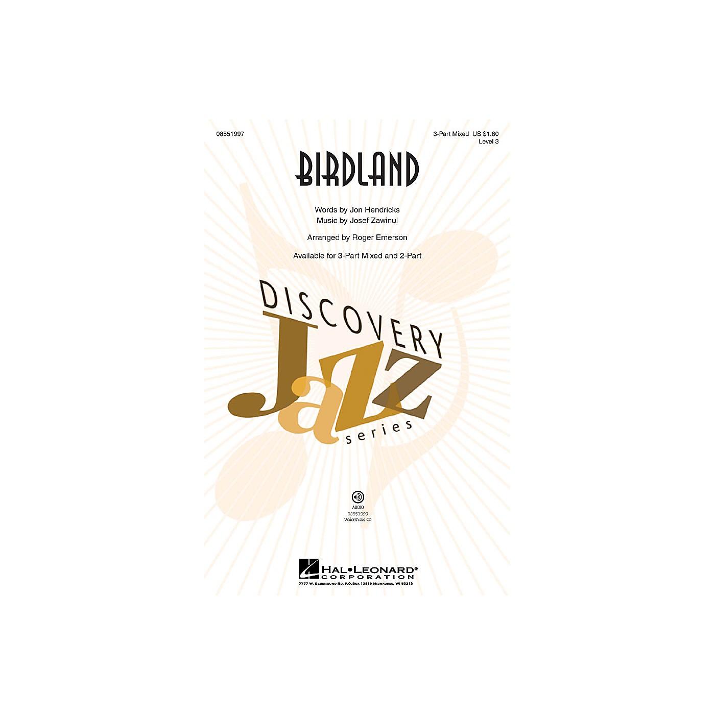 Hal Leonard Birdland (Discovery Level 3) 3-Part Mixed arranged by Roger Emerson thumbnail