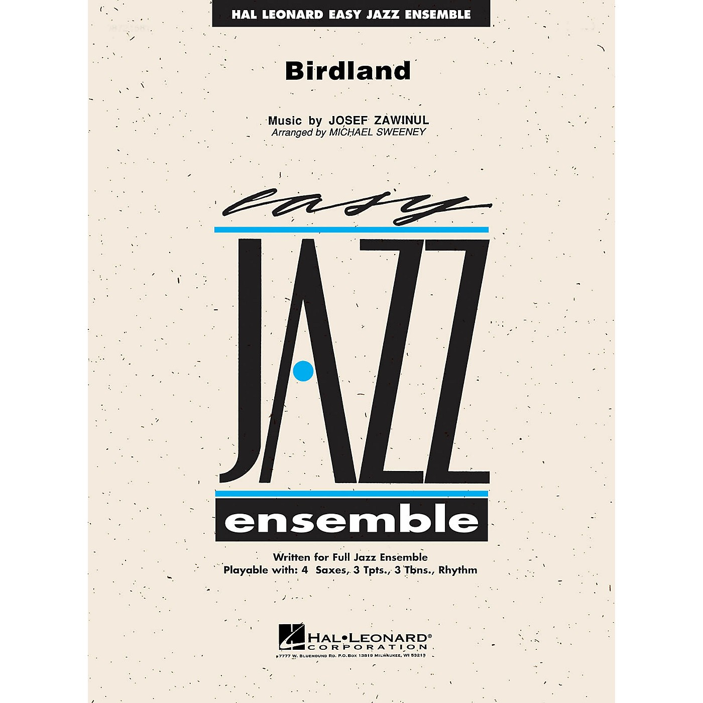 Hal Leonard Birdland Jazz Band Level 2 by Weather Report Arranged by Michael Sweeney thumbnail