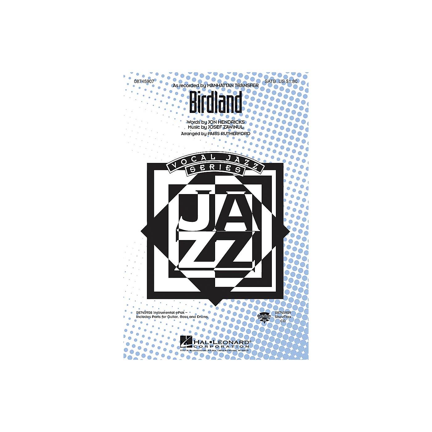 Hal Leonard Birdland ShowTrax CD Arranged by Paris Rutherford thumbnail