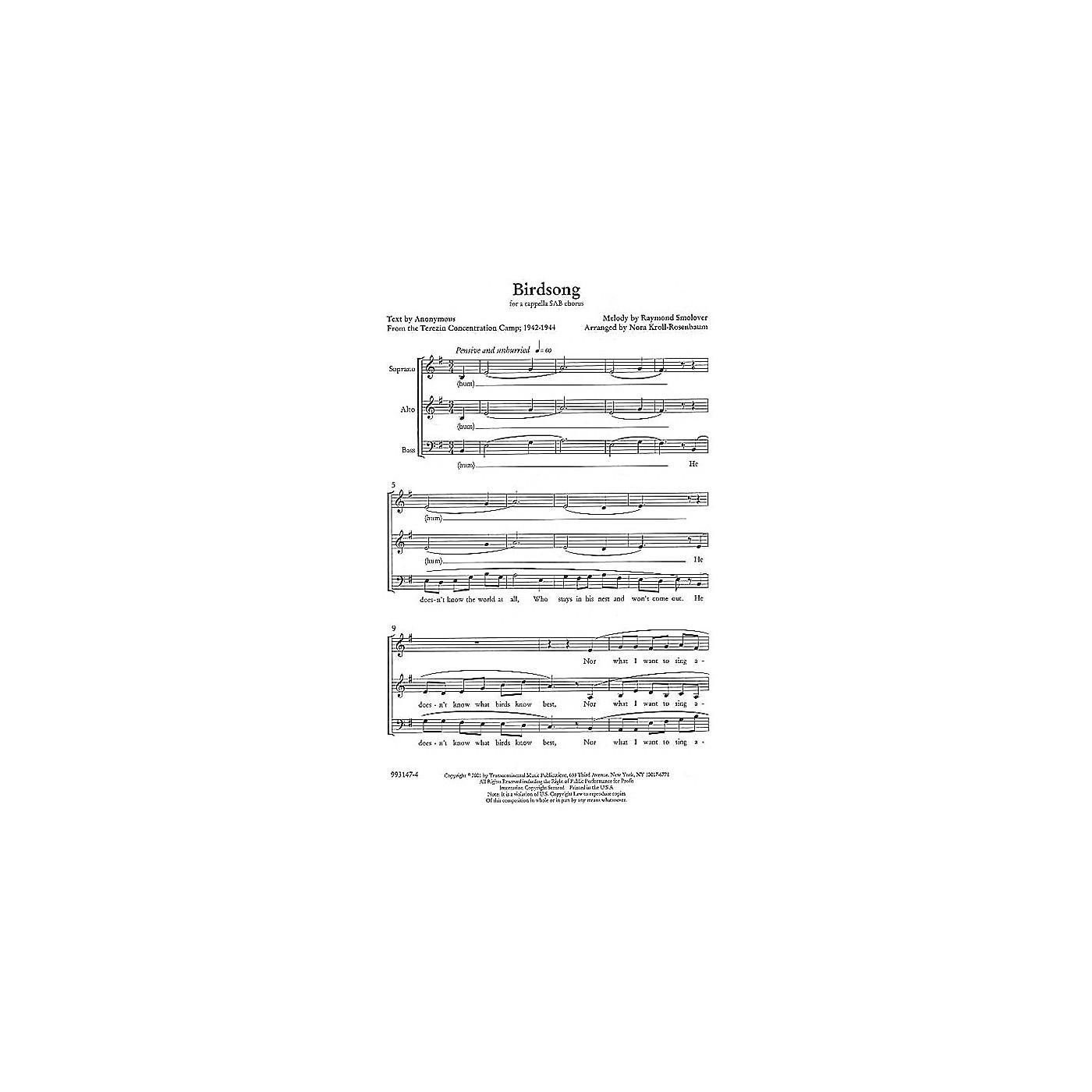 Transcontinental Music Birdsong SAB arranged by Nora Kroll-Rosenbaum thumbnail