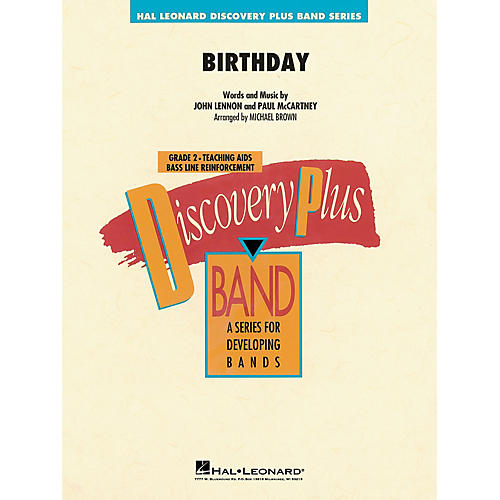 Hal Leonard Birthday Concert Band Level 2 by The Beatles arranged by Michael Brown thumbnail