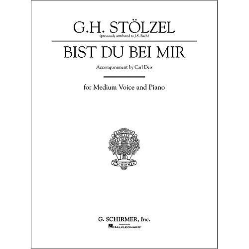 G. Schirmer Bist du bei mir (Thou Art My Joy) for Medium Voice By Bach / Deis thumbnail