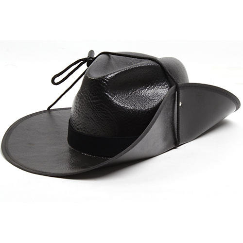 Director's Showcase Black Aussie Hat with Colored Band-thumbnail