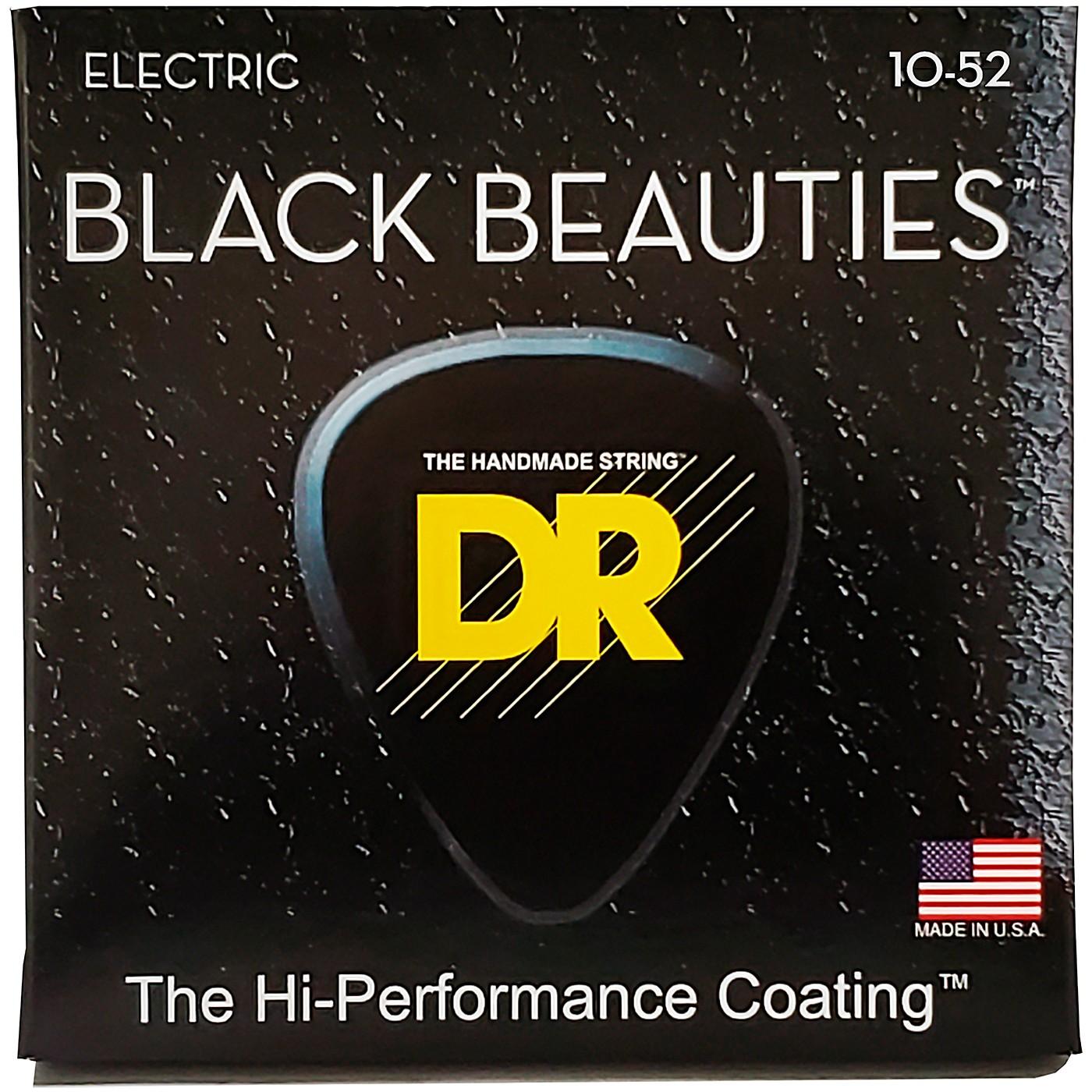 DR Strings Black Beauties Coated Electric Strings Medium-Heavy (10-52) thumbnail