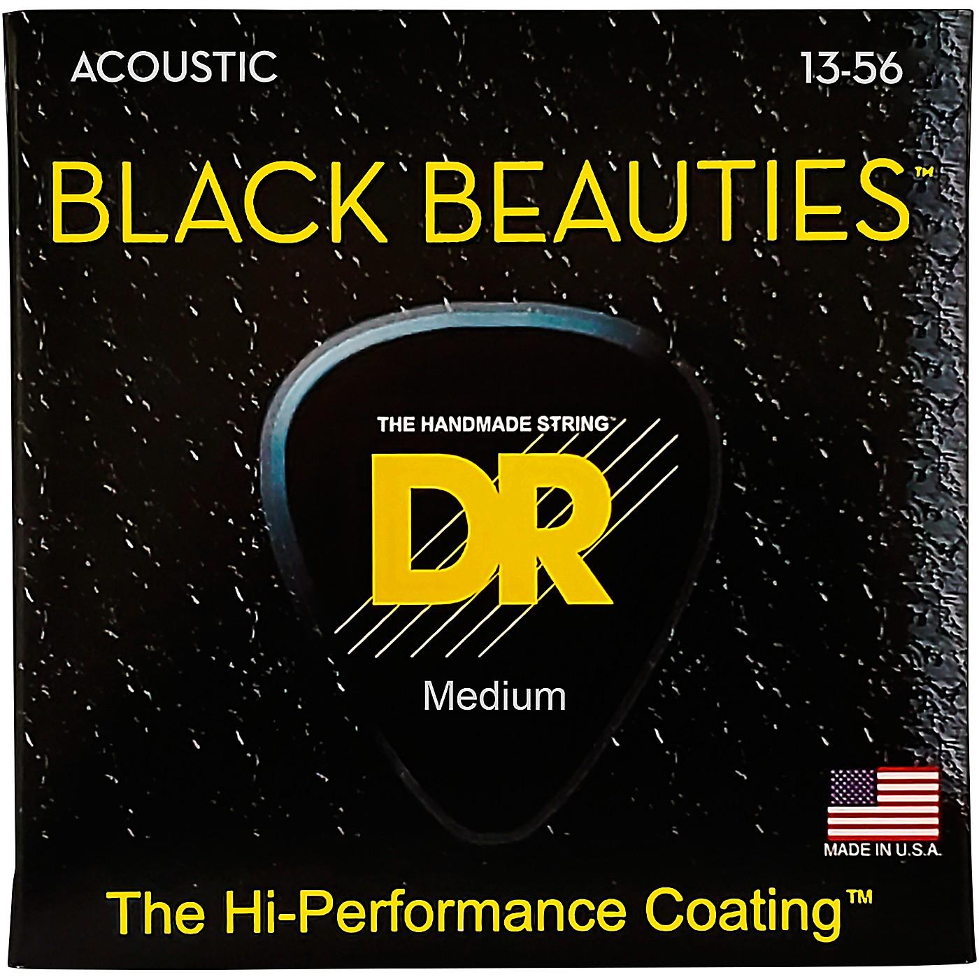 DR Strings Black Beauties Heavy Acoustic Guitar Strings thumbnail