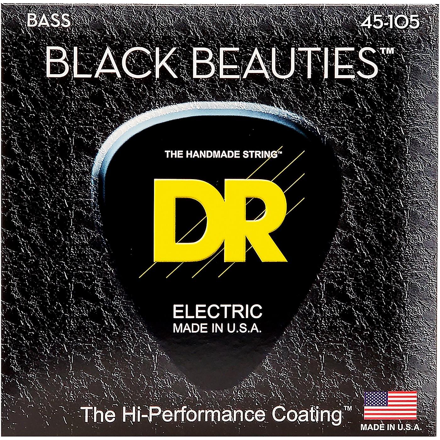 DR Strings Black Beauties Medium 4-String Bass Strings thumbnail