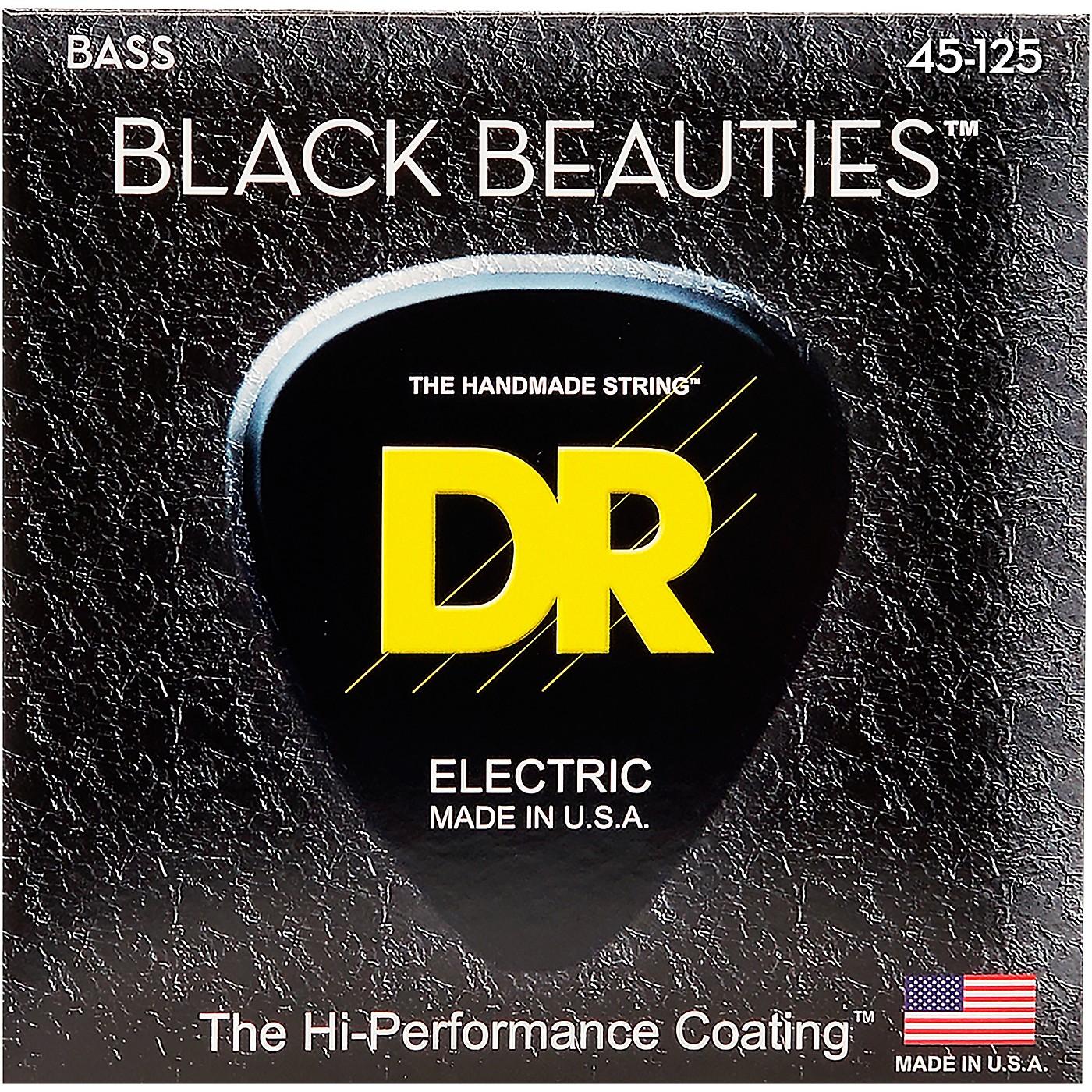 DR Strings Black Beauties Medium 5-String Bass Strings thumbnail