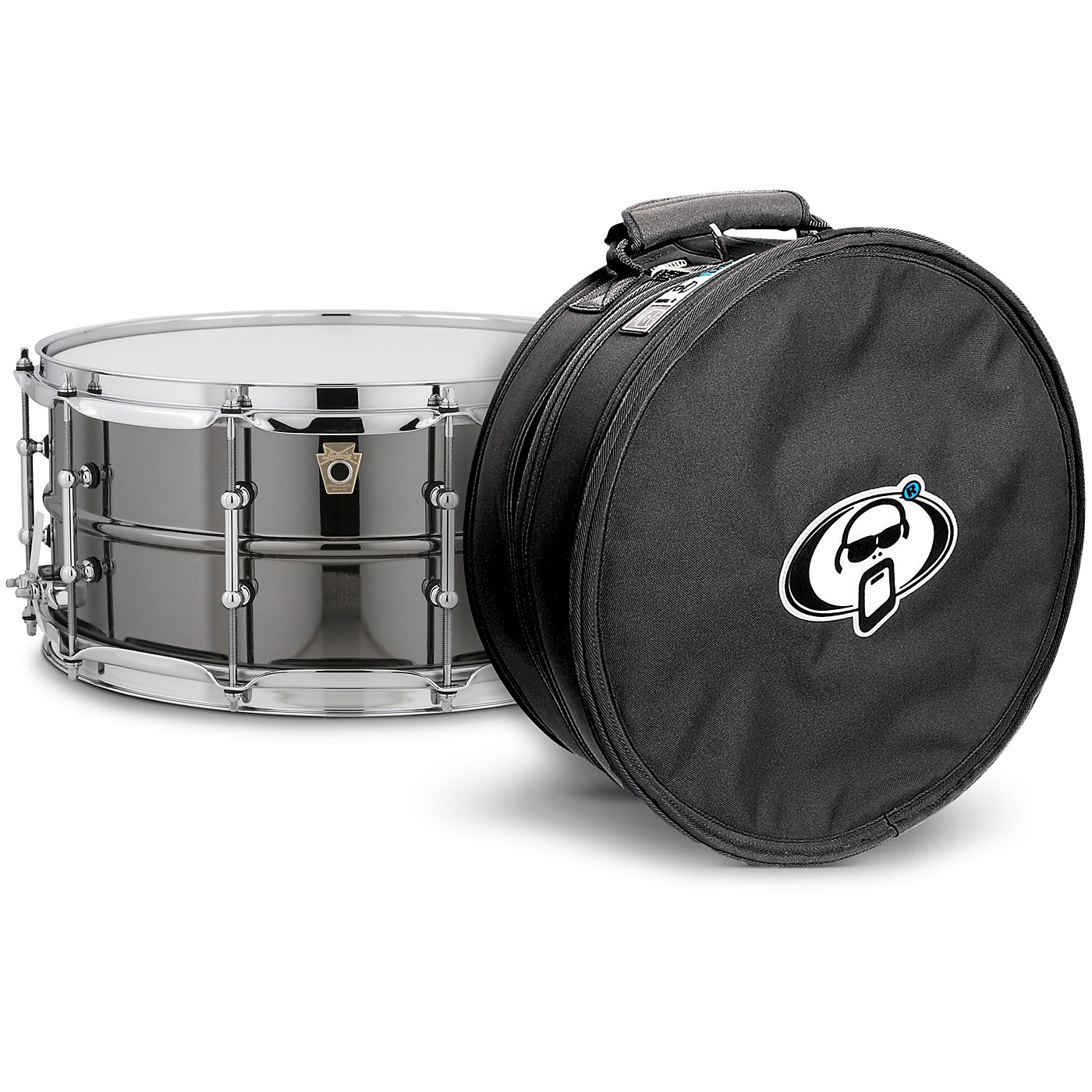 Ludwig Black Beauty Snare Drum with Tube Lugs and Protection Racket Case thumbnail
