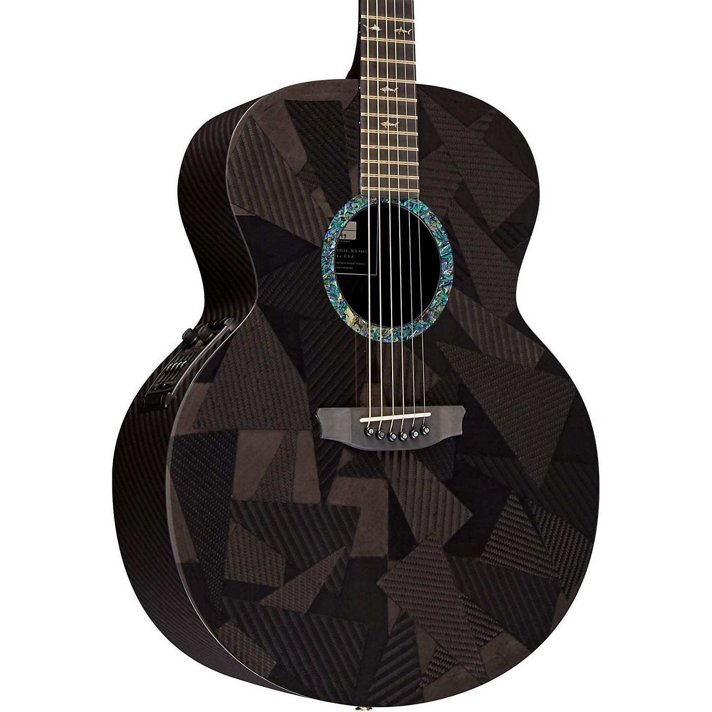 RainSong Black Ice Series BIJM1000N2 Graphite Acoustic-Electric Guitar thumbnail