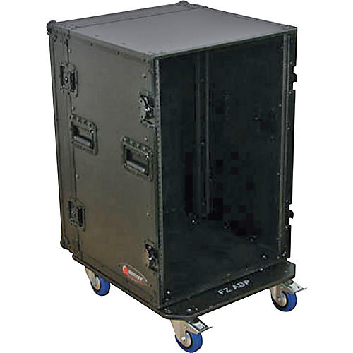 Odyssey Black Label 16-Space Amp Rack with Wheels thumbnail