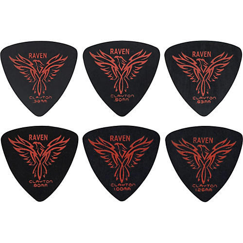 Clayton Black Raven Rounded Triangle Guitar Picks thumbnail