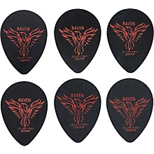 Clayton Black Raven Small Teardrop Guitar Picks