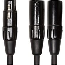 "Roland Black Series 6"" XLR (Female) - Dual XLR (Male) Y Interconnect Cable"