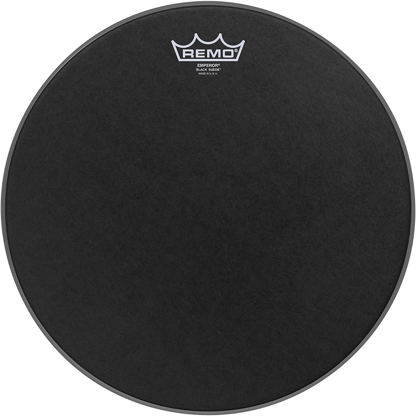 Remo Black Suede Emperor Batter Drumhead thumbnail