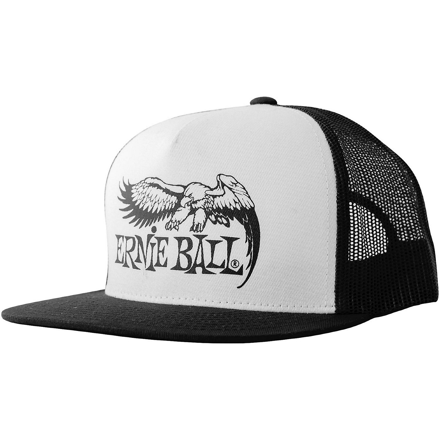 Ernie Ball Black & White Trucker Cap w/ Ernie Ball Eagle thumbnail
