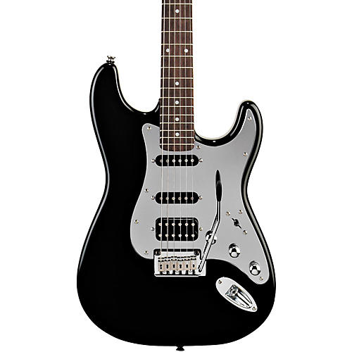 Squier Black and Chrome Fat Strat Electric Guitar thumbnail