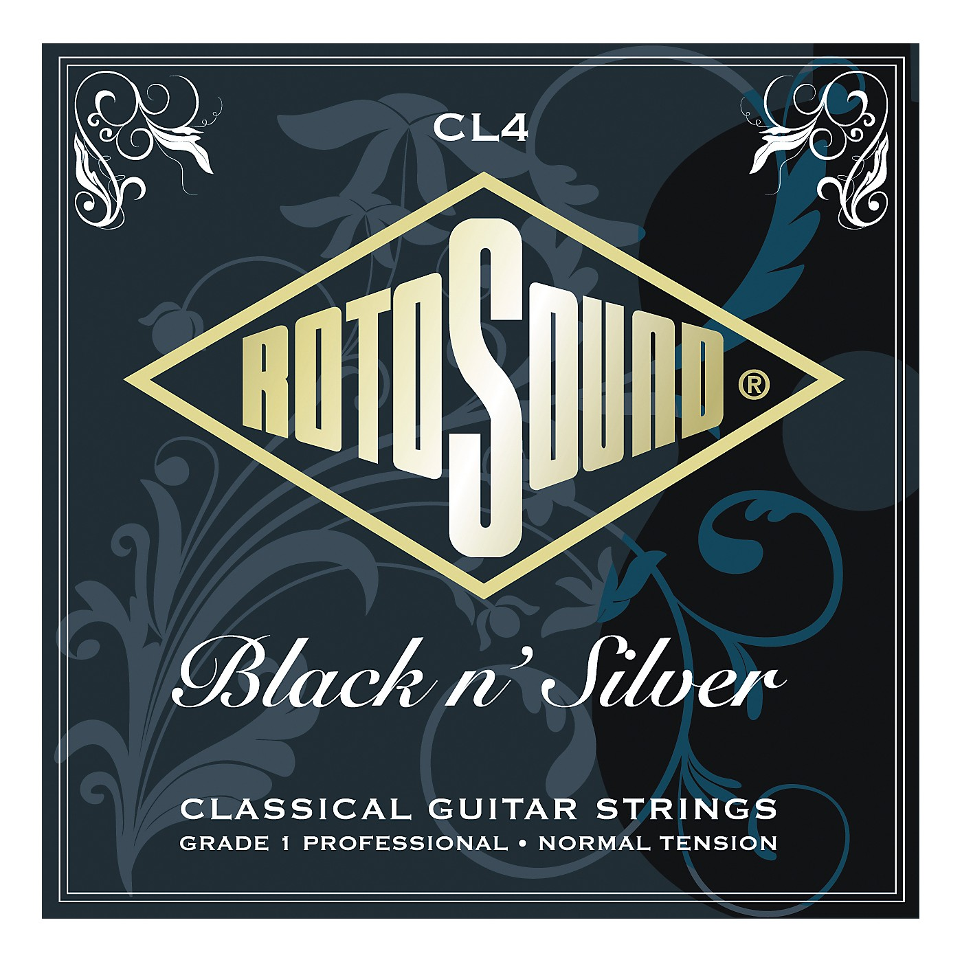 Rotosound Black n Silver Tie-On Normal Tension Classical Guitar Strings thumbnail