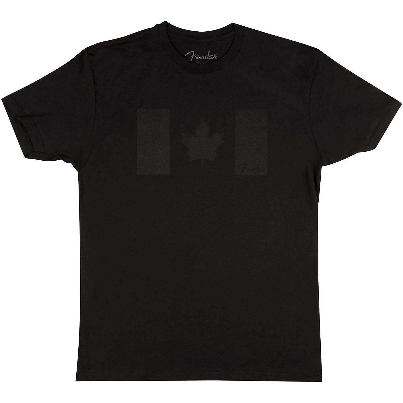 Fender Blackout Canadian Flag T-Shirt thumbnail