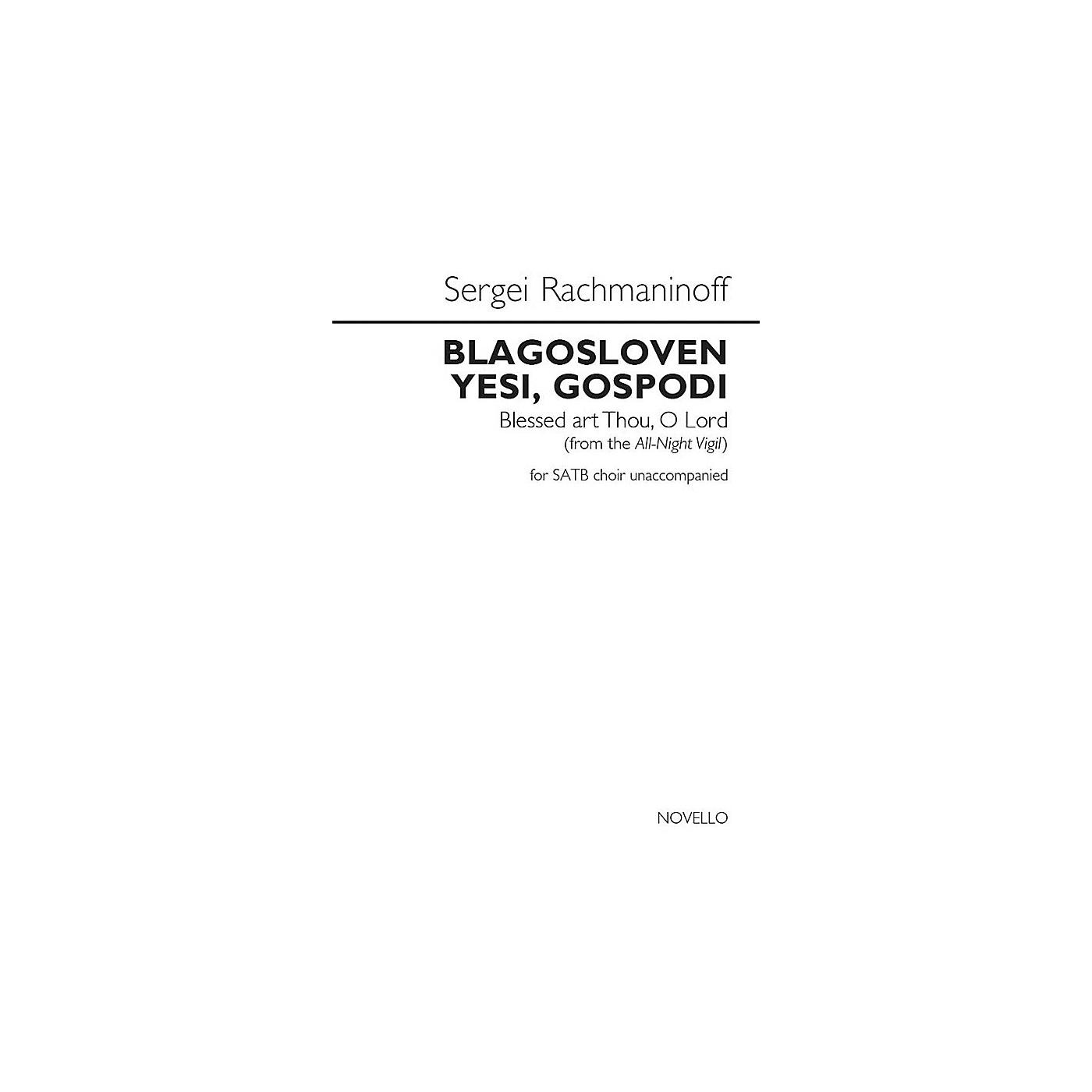 Novello Blagosloven Yesi, Gospodi (Blessed Art Thou, O Lord) SATB a cappella by Sergei Rachmaninoff thumbnail