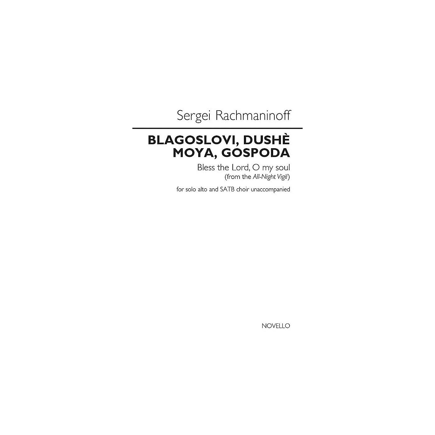 Novello Blagoslovi, Dushe Moya, Gospoda (Bless the Lord, O My Soul) SATB a cappella by Sergei Rachmaninoff thumbnail