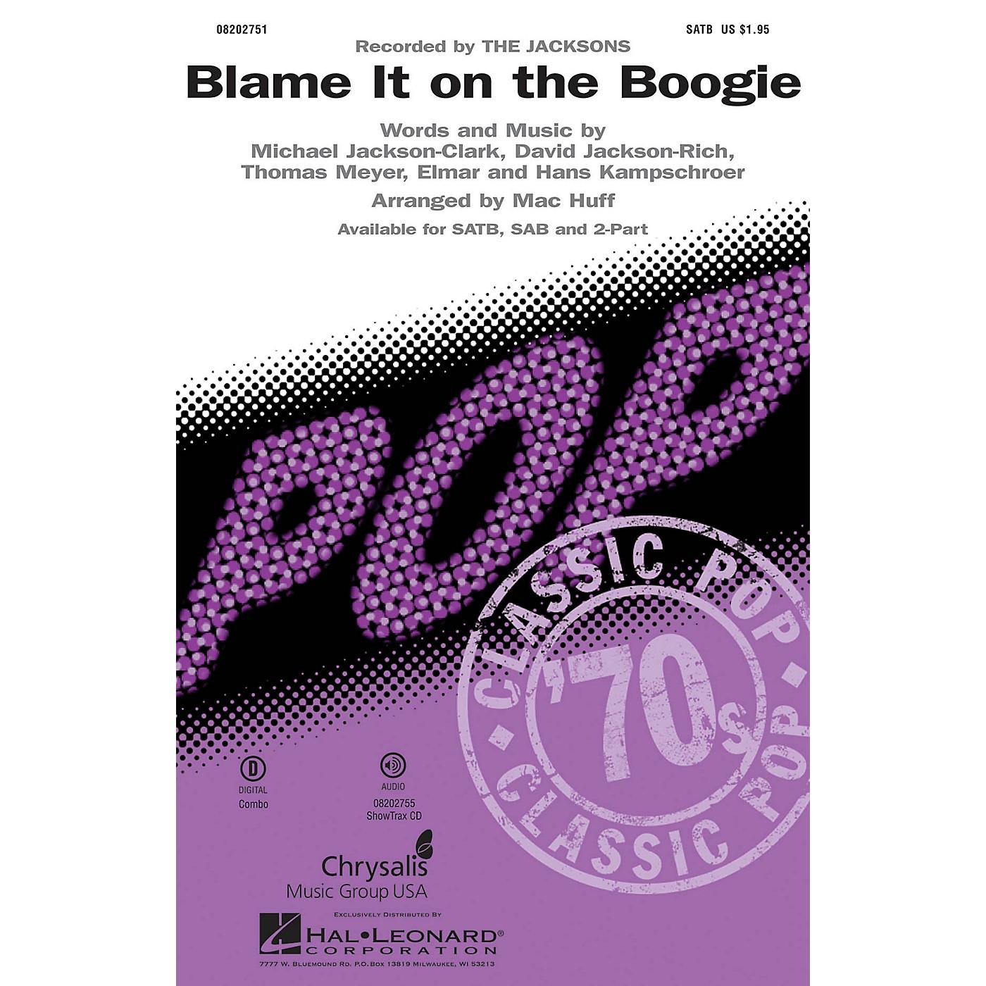 Hal Leonard Blame It on the Boogie SAB by Michael Jackson Arranged by Mac Huff thumbnail