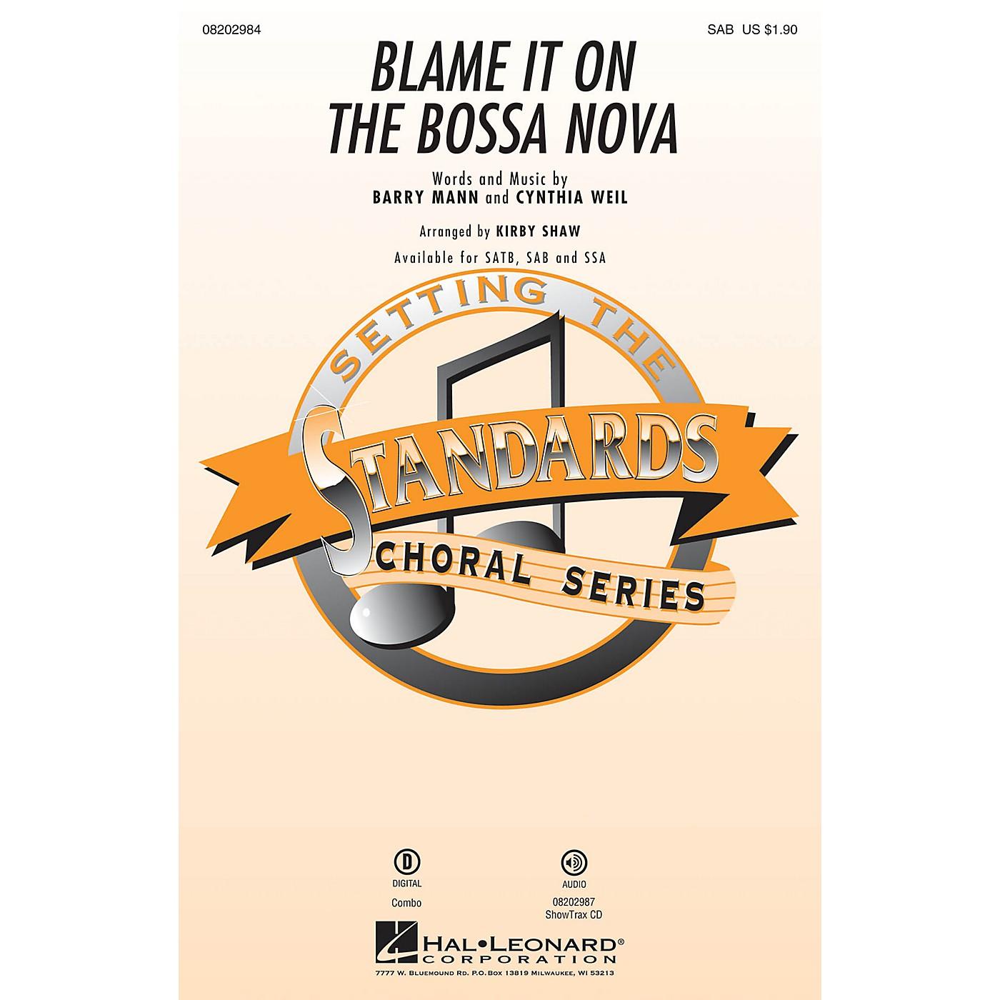 Hal Leonard Blame It on the Bossa Nova SAB by Eydie Gormé arranged by Kirby Shaw thumbnail