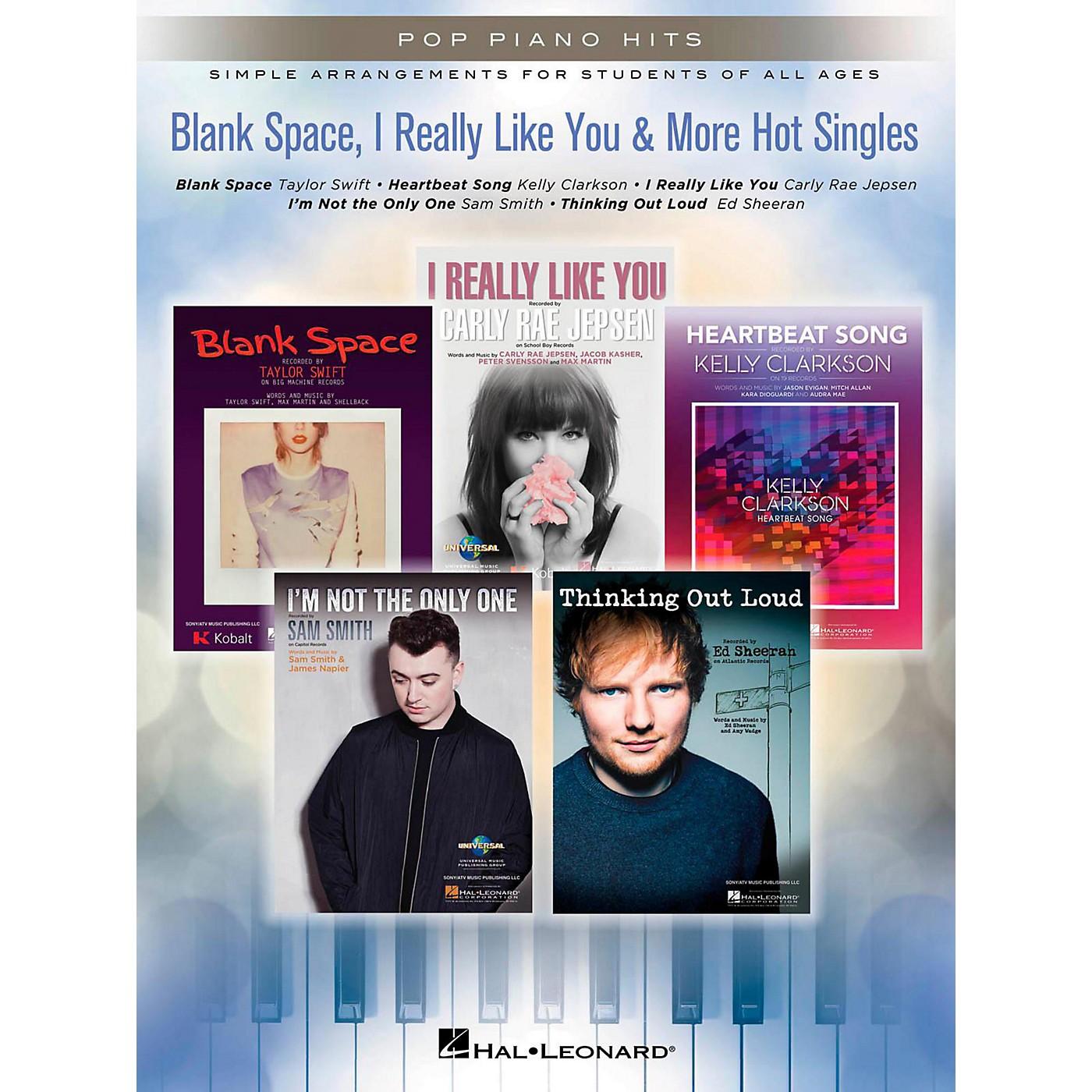Hal Leonard Blank Space, I Really Like You & More Hot Singles for Easy Piano thumbnail