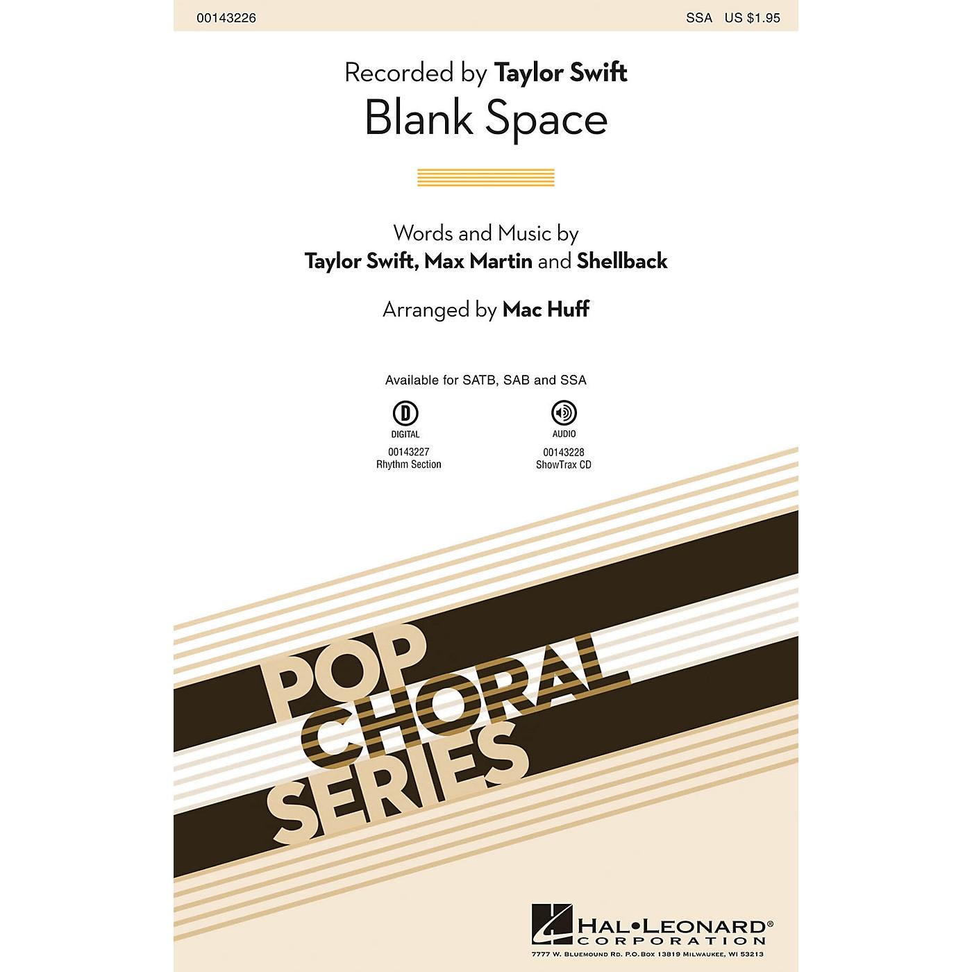 Hal Leonard Blank Space SSA by Taylor Swift arranged by Mac Huff thumbnail
