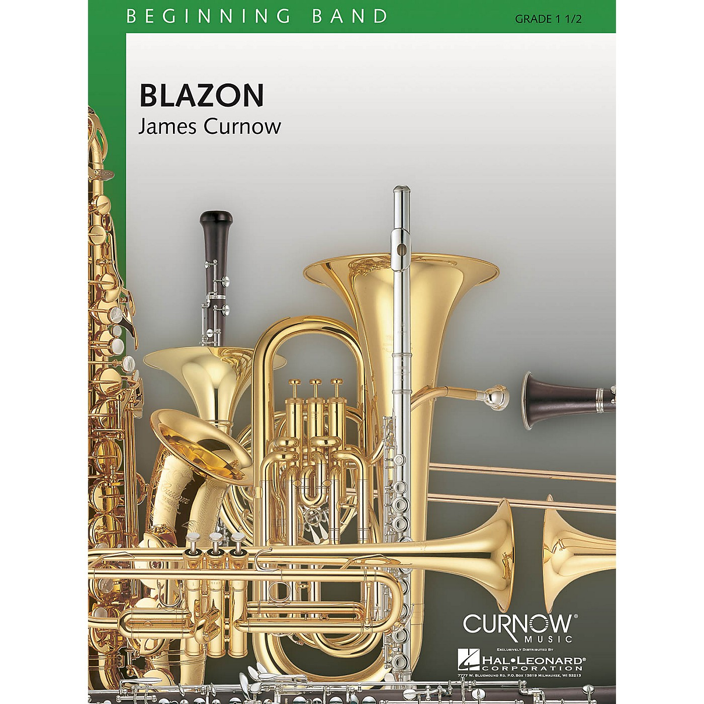 Curnow Music Blazon (Grade 1.5 - Score Only) Concert Band Level 1.5 Composed by James Curnow thumbnail