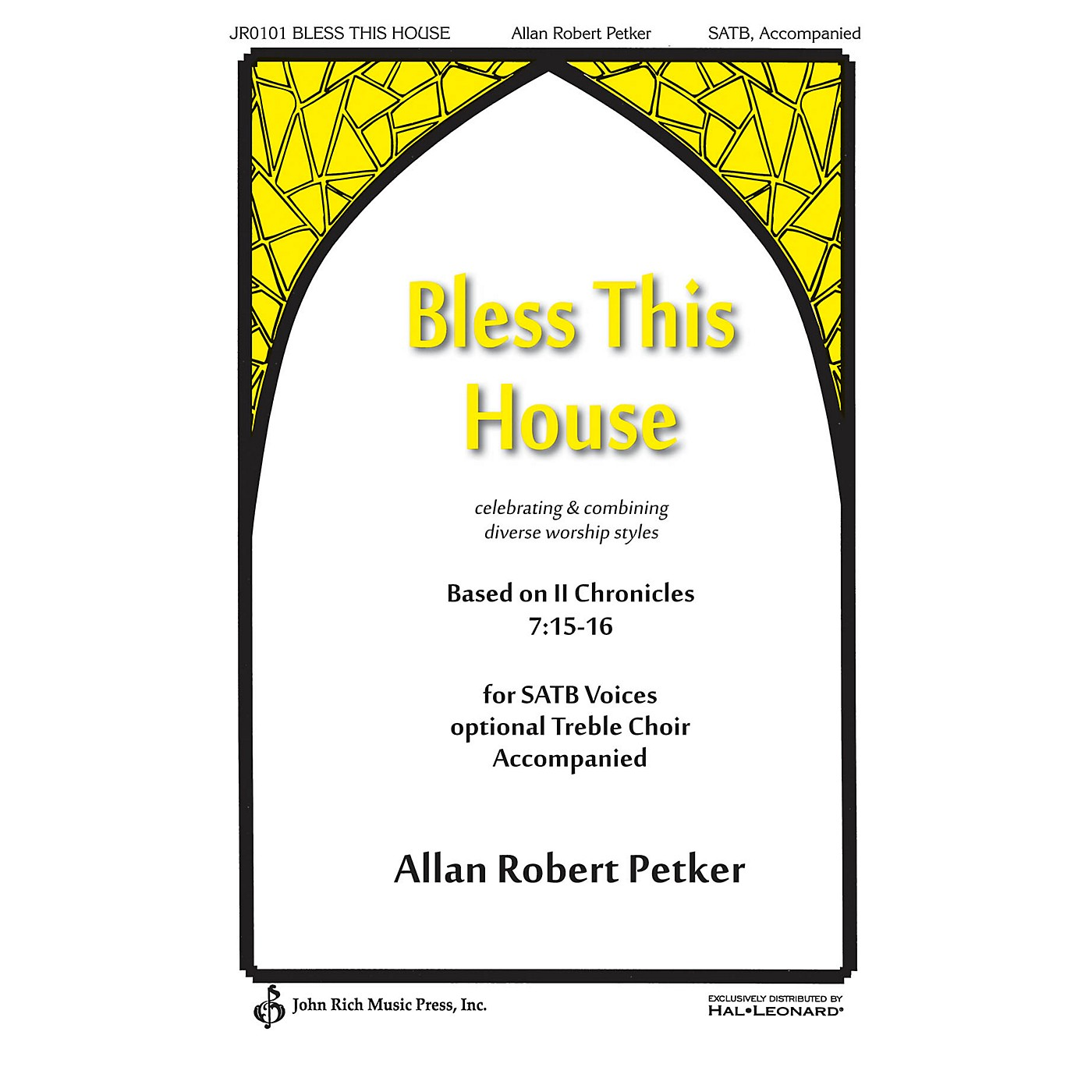 John Rich Music Press Bless This House Score & Parts Composed by Allan Robert Petker thumbnail