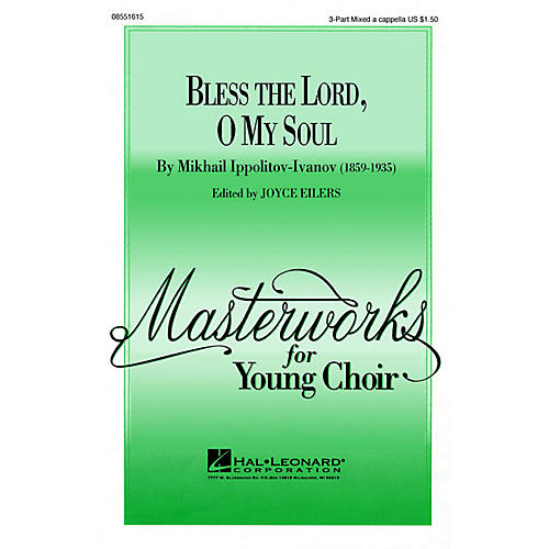 Hal Leonard Bless the Lord, O My Soul (Op. 37, No. 2) TTB A Cappella Arranged by Joyce Eilers thumbnail