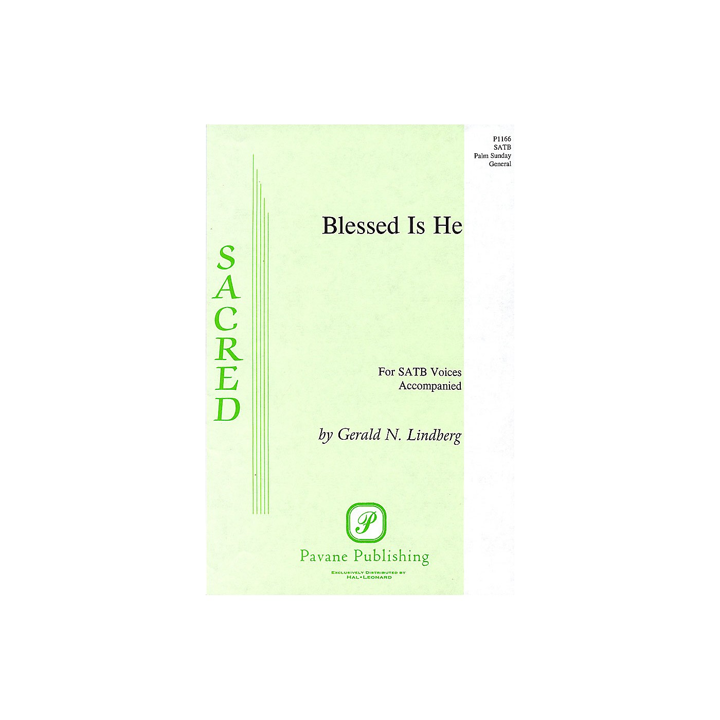 Pavane Blessed Is He SATB composed by Gerald N. Lindberg thumbnail