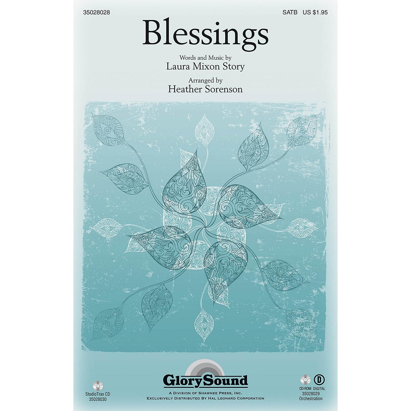 Shawnee Press Blessings SATB arranged by Heather Sorenson thumbnail