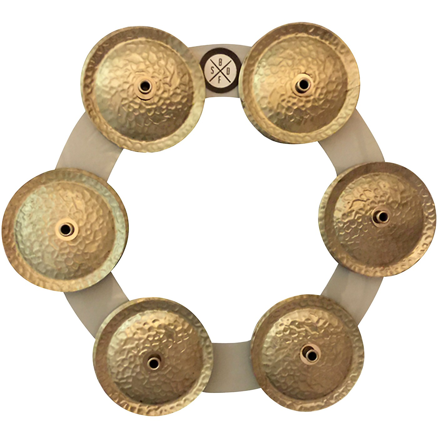 Big Fat Snare Drum Bling Ring - White Copper thumbnail