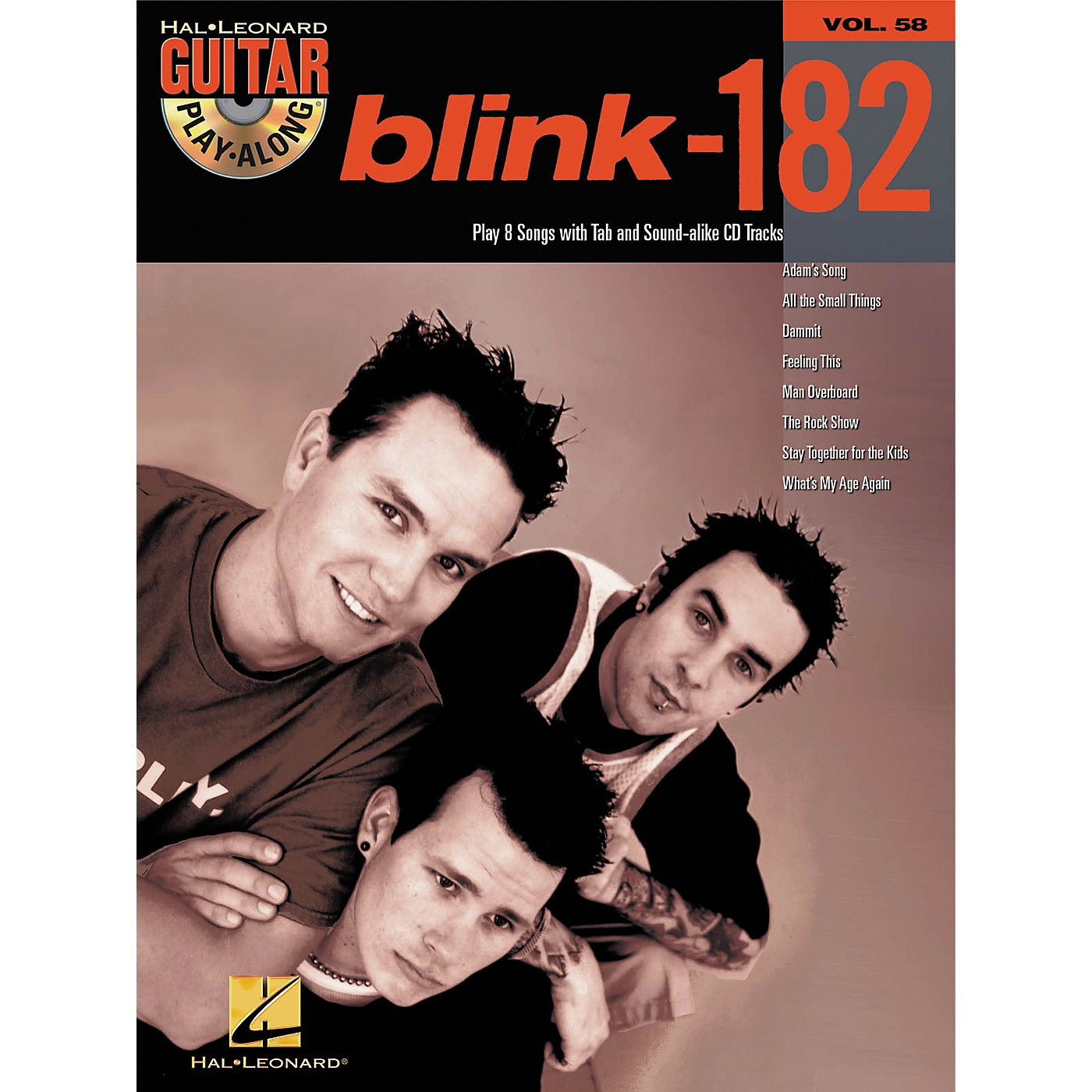 Hal Leonard Blink-182 Guitar Play-Along Book with CD thumbnail