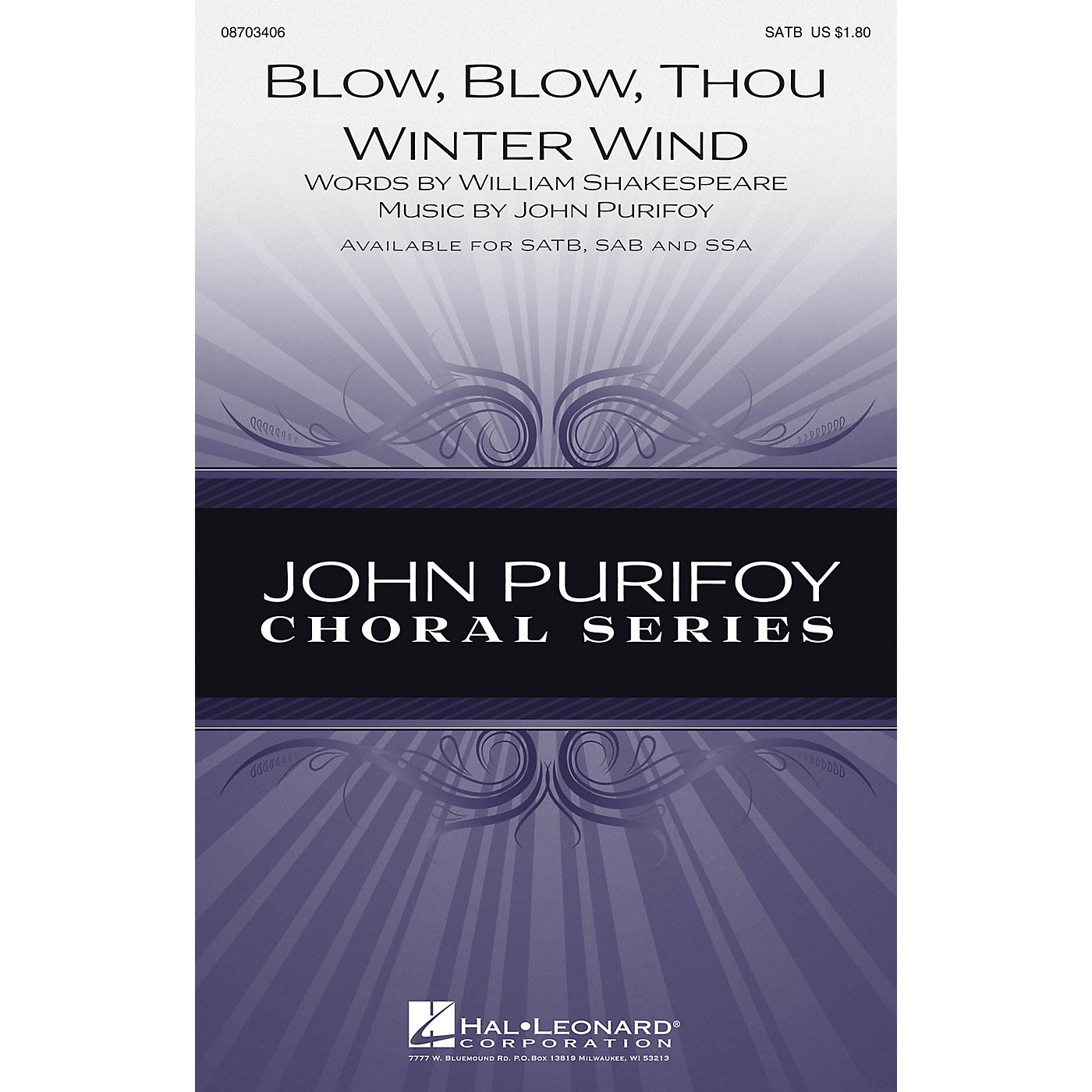 Hal Leonard Blow, Blow, Thou Winter Wind SAB Composed by John Purifoy thumbnail