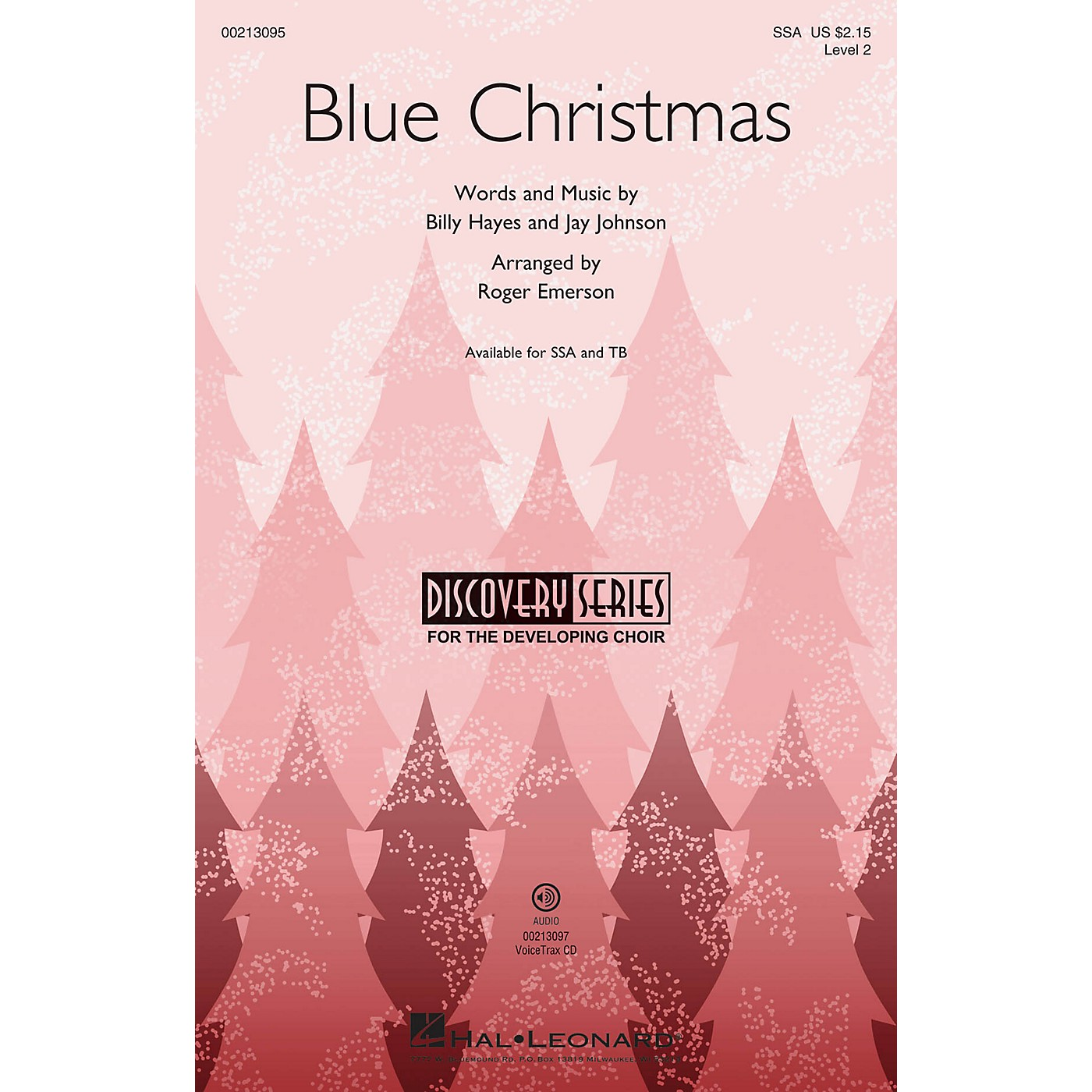 Hal Leonard Blue Christmas (Discovery Level 2) SSA arranged by Roger Emerson thumbnail