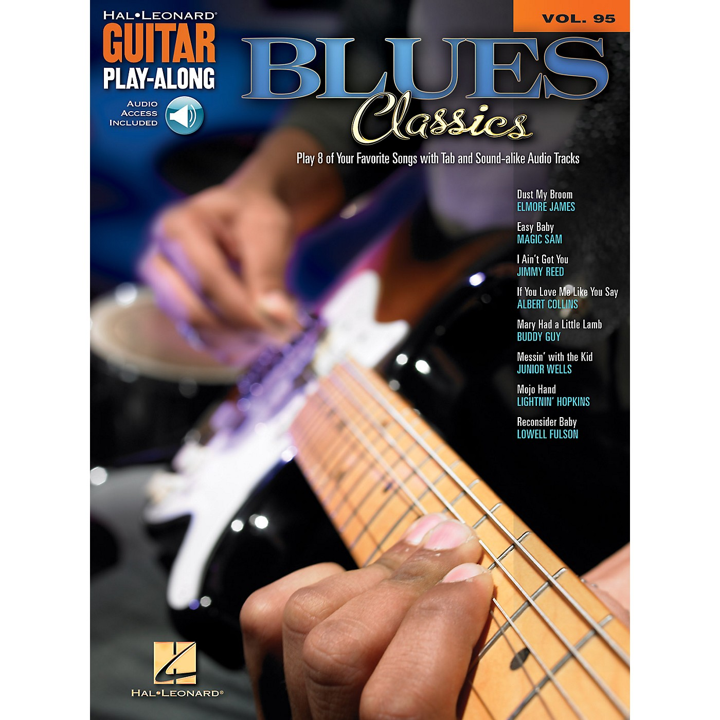 Hal Leonard Blue Classics (Guitar Play-Along Volume 95) Guitar Play-Along Series Softcover with CD by Various thumbnail