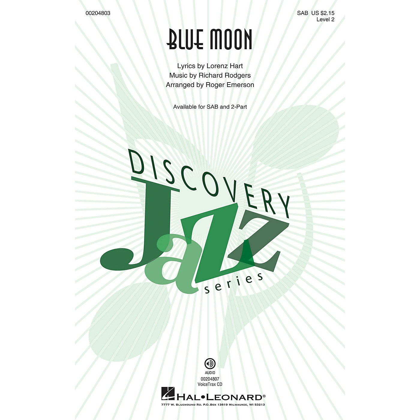 Hal Leonard Blue Moon (Discovery Level 2) VoiceTrax CD Arranged by Roger Emerson thumbnail