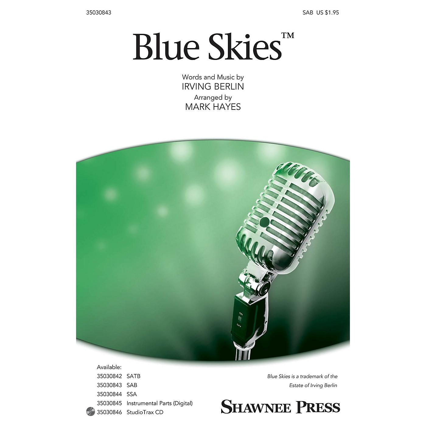 Shawnee Press Blue Skies SAB arranged by Mark Hayes thumbnail