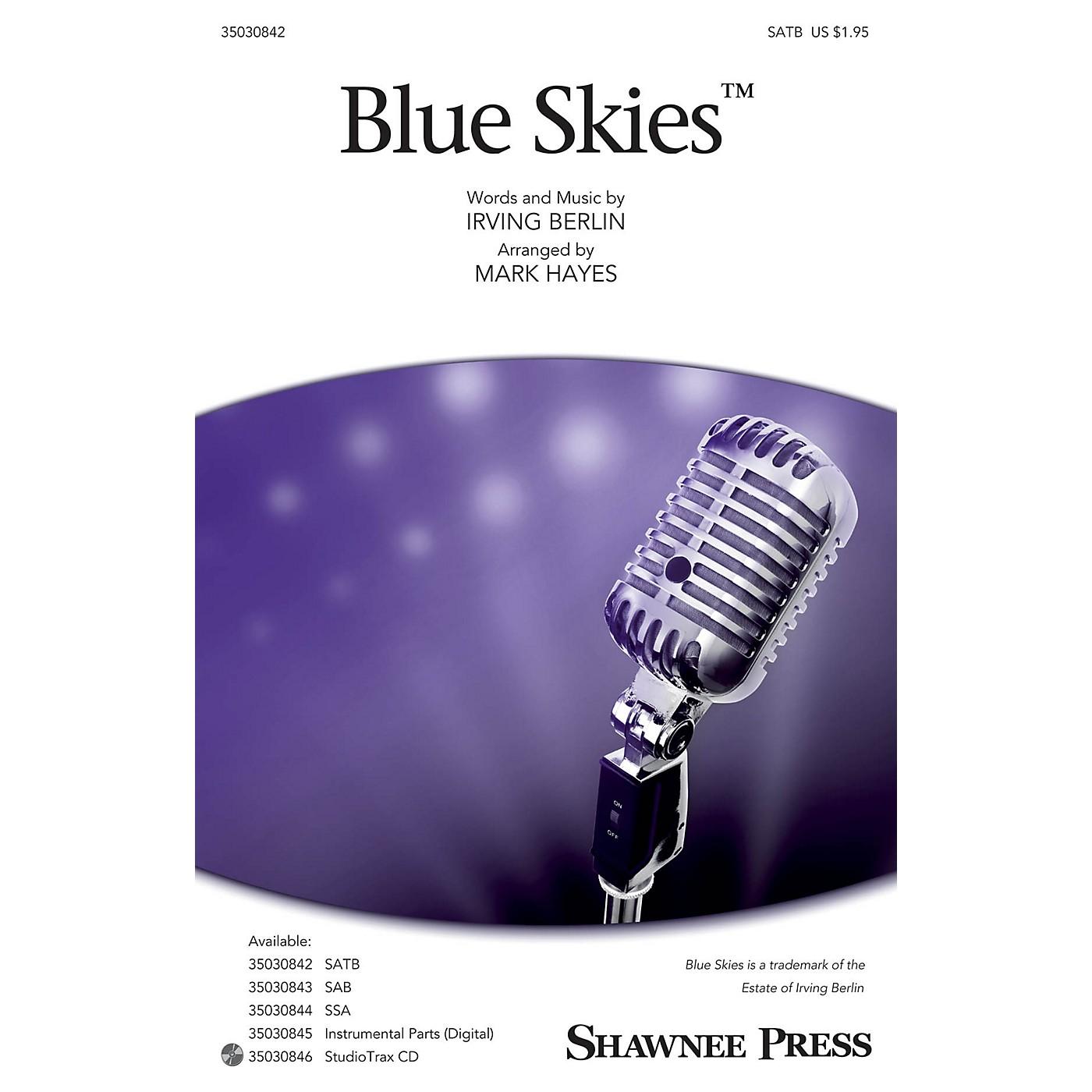 Shawnee Press Blue Skies SATB arranged by Mark Hayes thumbnail